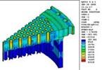 FEA Temp Distribution of Heat Exchanger